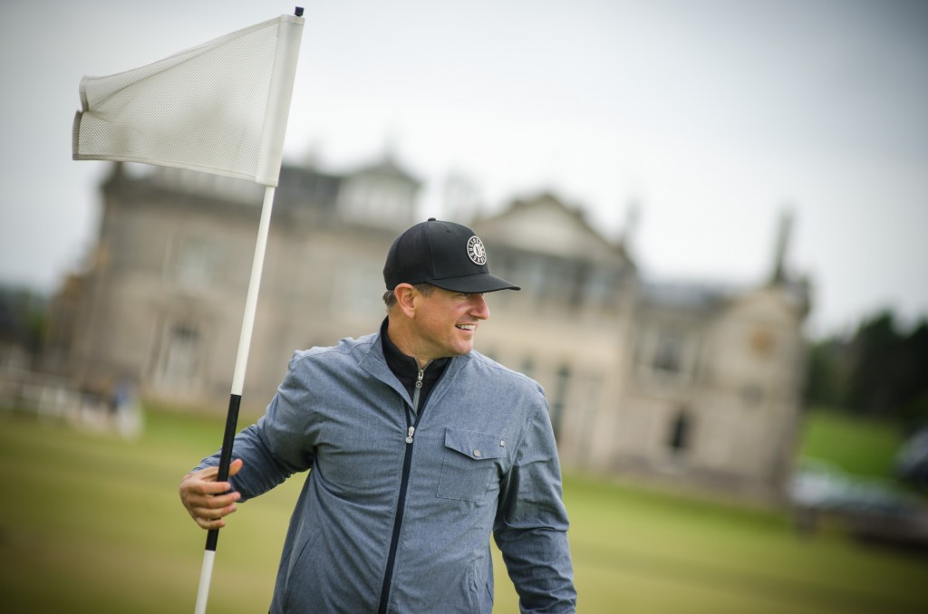 Matt on #1 of the Old Course. Image Credit Recounter