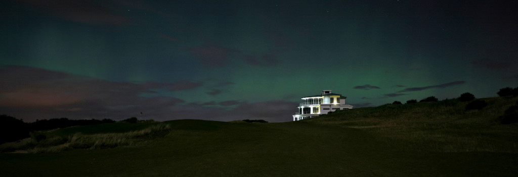 Castle Stuart Golf Links Northern Lights (aurora borealis)