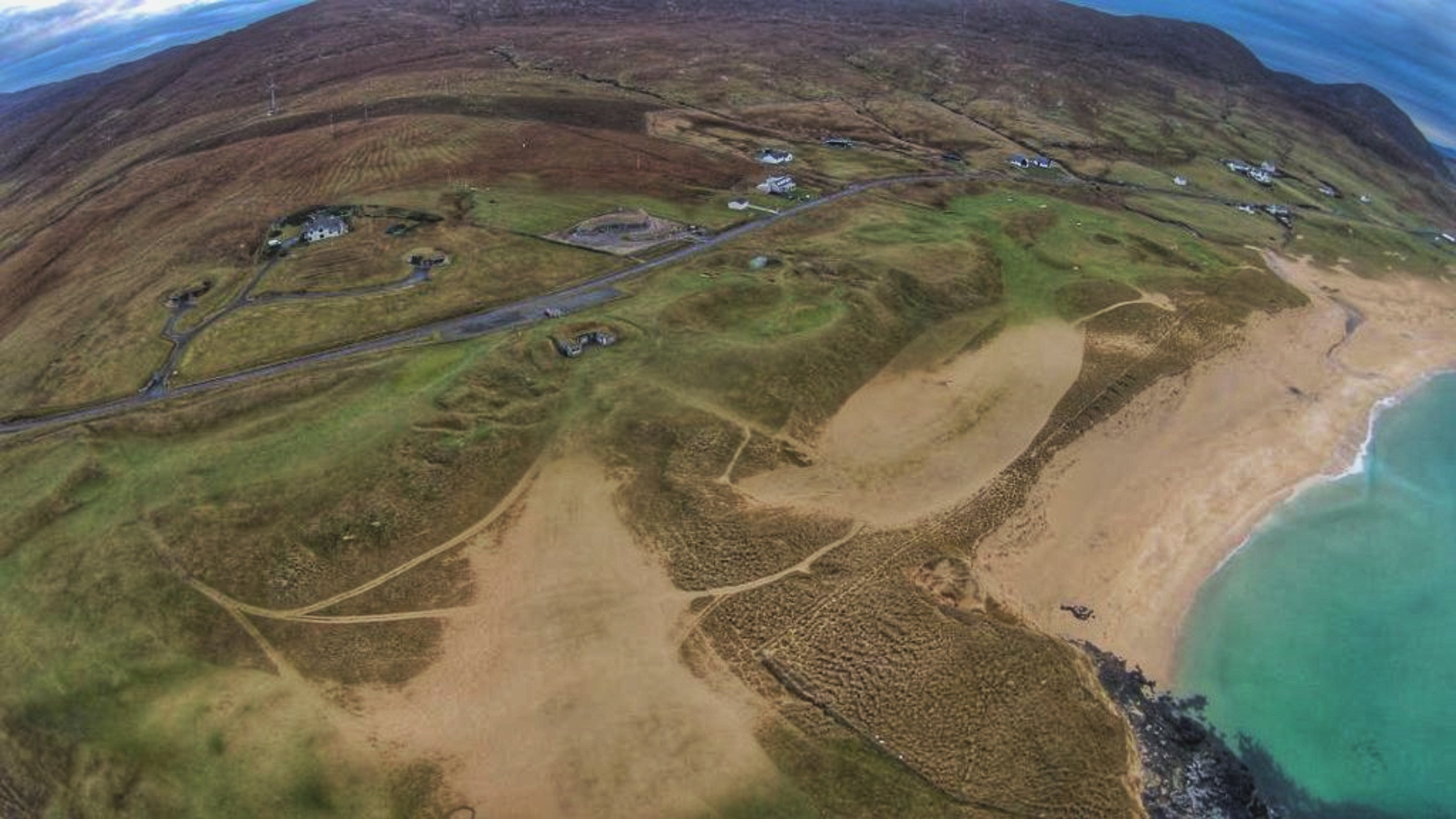 Isle of Harris Golf Club after recent storm.