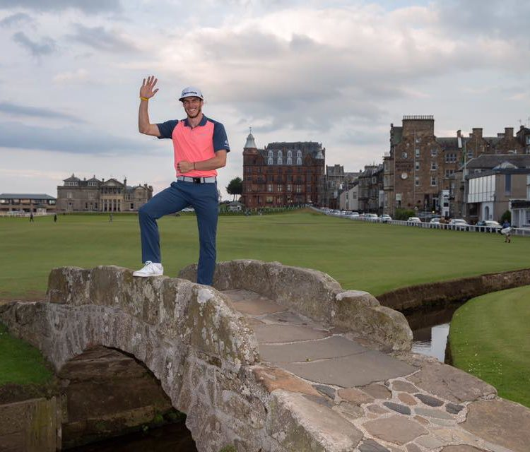 Gareth Bale on a Scottish golf trip with friends . Image Credit St Andrews Links Facebook